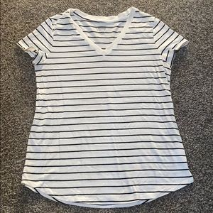 Black and white striped shirt from Target!